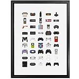 YQQICC Controladores de videojuegos Vintage póster impreso arte de pared pintura en lienzo imagen de oficina dormitorio decoración del hogar-40x60cm Sin Marco