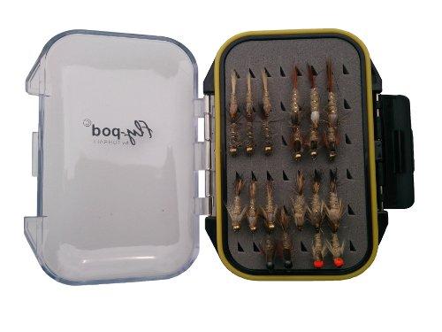 Turrall Fly-Pod Fishing Fly Selection - Mosca Seca de Pesca con Mosca, Color Negro