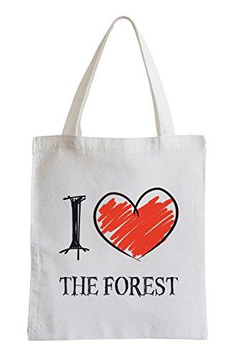 I Love The Forest Fun Sac de Jute