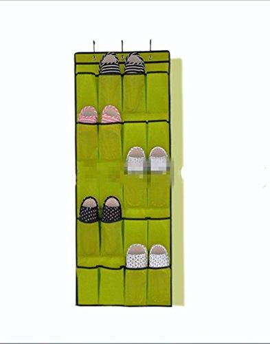GYMNLJY 20 sacs grille chaussure sac de rangement sac de Tenture murale grand Non tissé tissu Household Items multicouche (pack de 2) , green