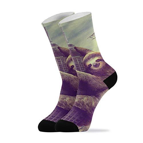LUPINZ Funny Climbing New York Casual Socks Unisex Socken Sportsocken Gr. One size, 1
