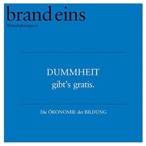 brand eins audio: Bildung audiobook cover art