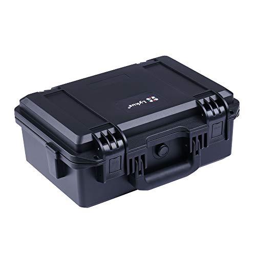 Lykus HC-3310 Wasserdicht Koffer mit anpassbar Rasterschaumstoff, Innengröße 33x21x13.5 cm, geeignet für Pistole, DSLR Kamera, kleine Drohne, Camcorder, Actionkamera und andere
