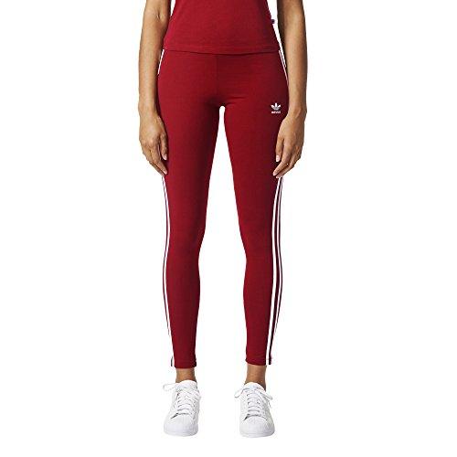 adidas Originals Damen 3 Stripes Leggings, Collegiate Burgund, X-Klein