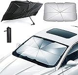 Paraguas parasol para coche, 65 x 125 cm, para coche, protección contra el sol, parabrisas delantero, mantiene su vehículo fresco, para camión de coche y todoterrenos 65 x 125 cm