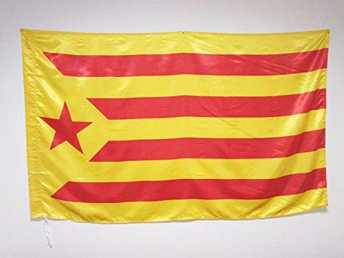 AZ FLAG Flagge KATALONIEN ESTELADA GROGA 150x90cm Satin - KATALANISCHE Fahne 90 x 150 cm - flaggen Top Qualität