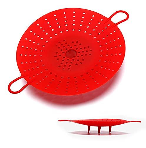 DUBENS Cesta de cocción al vapor de silicona, cesta de cocción al vapor, cesta de cocción de verduras para olla a presión, apta para microondas, cocina multiusos