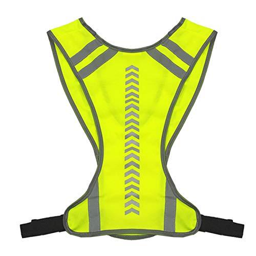 Ljourney Reflektorweste, Sicherheitsweste,Warnweste Mit Reflektoren, Atmungsaktiv Reflektierende Weste,Outdoor Nachtreiten Laufen Reflektierende Reflektierende Weste Für Joggen, Fahrrad