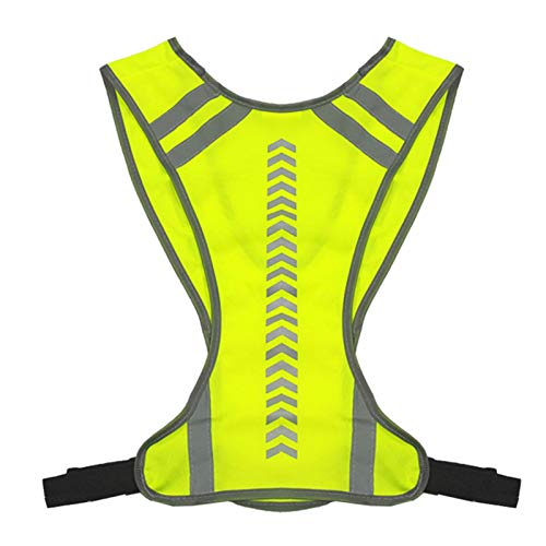 Reflective Vest for Running or Cycling, Lightweight Vest Safety Vest High Visibility Women and Men, Gear for Jogging, Biking, Walking