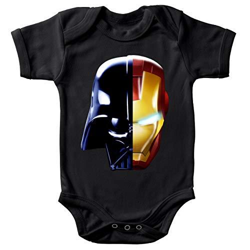 Body bébé Manches Courtes Noir Parodie Star Wars - Iron Man - Dark Vador, Iron Man et Daft Punk - Dark Punk - Get Darky : (Body bébé de qualité supérieure de Taille 9 Mois - imprimé en France)