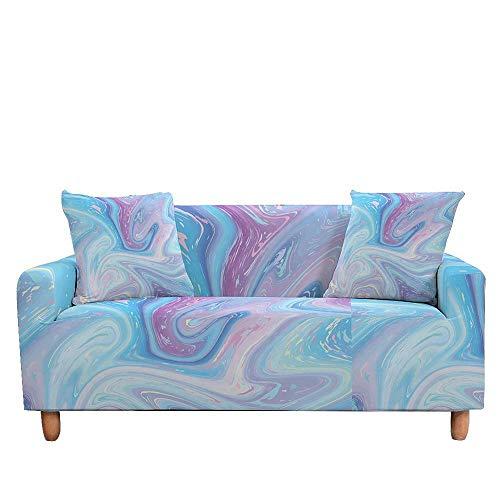 Vlejoy Cubierta Sofa con Cuerda De Fijación Funda Elástica Funda Elástica para Sofá Seccional Funda para Sillón Funda para Sofá De Mármol Funda para Sofá-Color-S_1 Plazas (90-140cm)