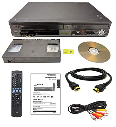 Fantastic Deal! Panasonic VHS to DVD Recorder VCR Combo w/ Remote, HDMI