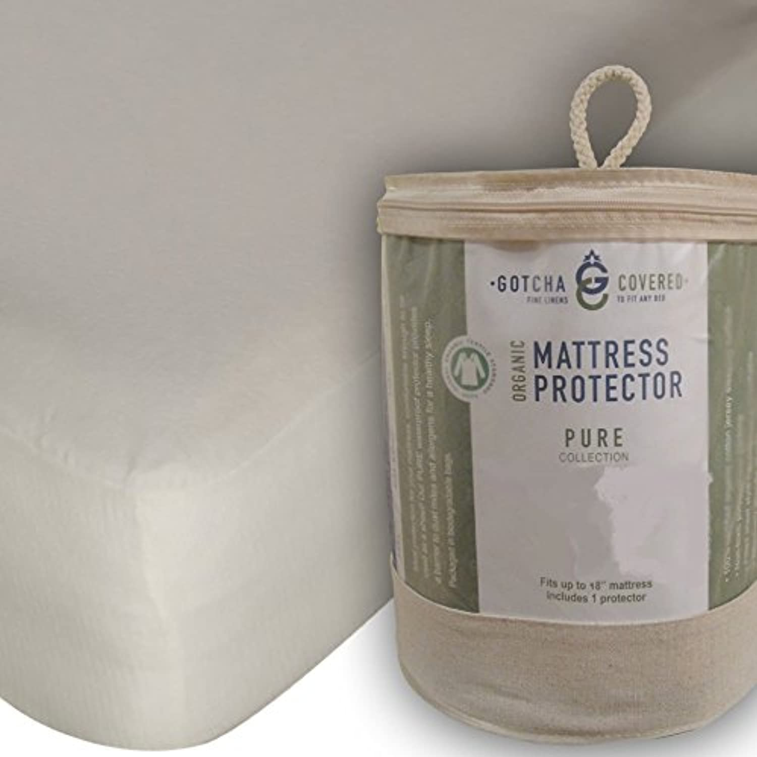 Certified Organic Cotton Mattress Predector Mattress Size Cal King
