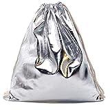 Franky Zano Turnbeutel im Metallic Design - Rucksack - Sportbeutel - Beutel - Gym Bags - Tasche...