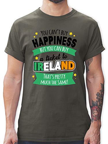 St. Patricks Day - A Ticket to Ireland - schwarz - 3XL - Dunkelgrau - st Patricks Day Herren - L190 - Tshirt Herren und Männer T-Shirts