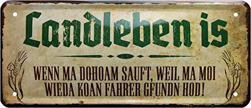 Les campagnols sont si ma doham ! Bayrisch 1213 Plaque en tôle décorative 28 x 12 cm
