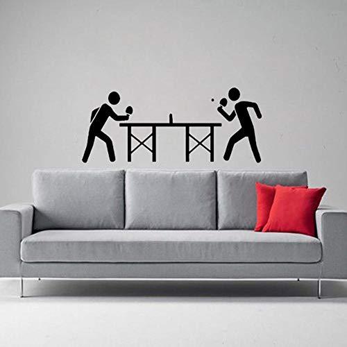 Muursticker huisdecoratie voor woonkamer muurstickers Vinyl Art muurstickers lijm interessante tafeltennis 56x24cm