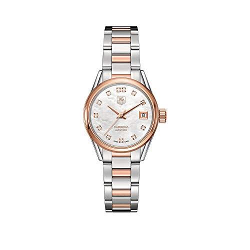 Tag Heuer Carrera WAR2452.BD0777 - Reloj de pulsera para mujer, acero y oro rosa de 18 quilates