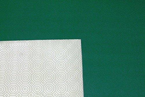 Russo Tessuti Mollettone Panno Verde Gommato Tovaglia Tavolo da Gioco Double Face 1 x 1.40 mt