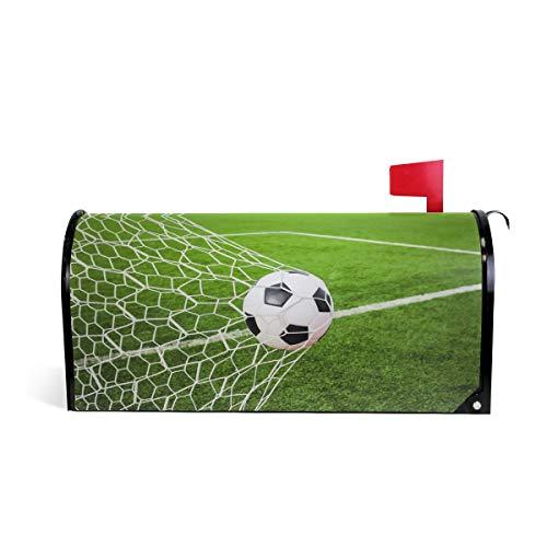 BIGJOKE Briefkasten-Abdeckung mit Fußball-Motiv, magnetisch, für Zuhause, Garten, Hof, Dekoration