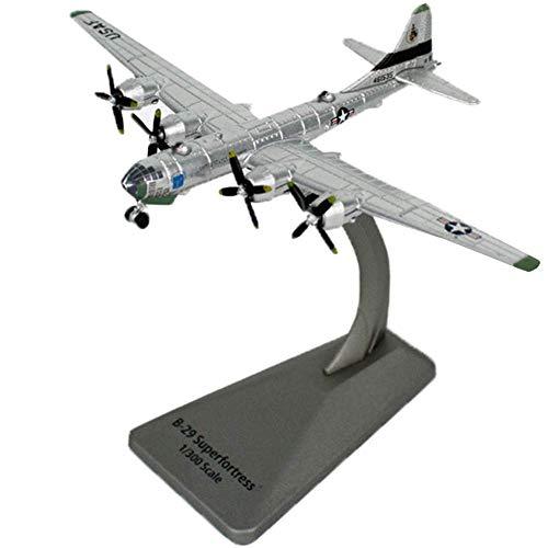 LINANNAN Diecast Avión, Modelo de avión Modelo Bombardero B29 Fortress Bomber, Modelo de aleación Mini Avión de Juguete 1: 300 Modelo de Pantalla con fundición a presión con Soporte