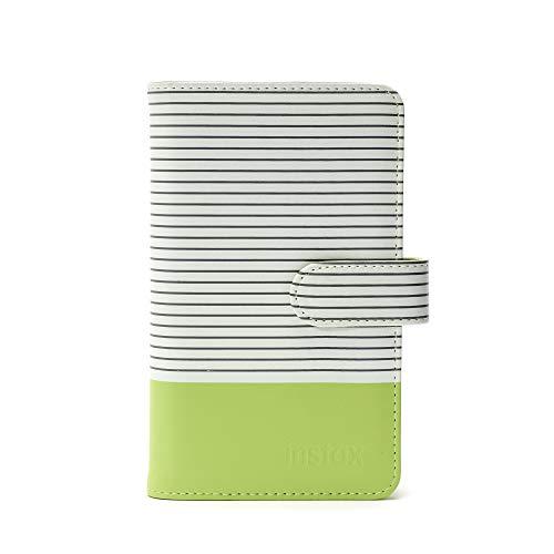 Instax Mini-Fotoalbum (gestreift) für Mini Fotos, Lime Grün
