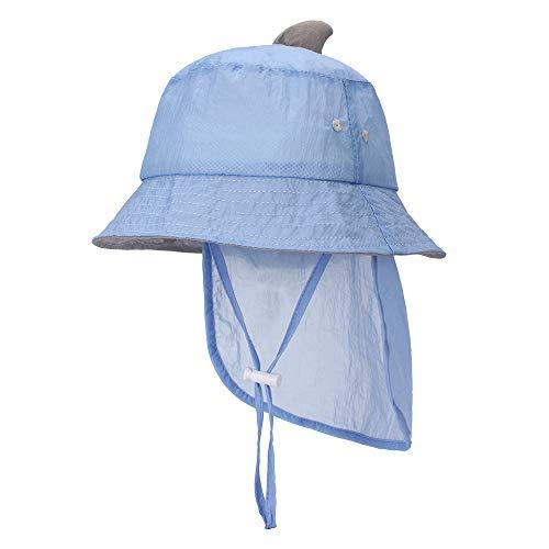MK MATT KEELY Unisex-Baby-Multifunktions-Hut, faltbar, Sonnenhut für Kleinkinder, mit abnehmbarer Nackenklappe Gr. One size, blau