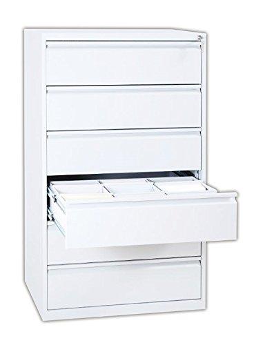 Karteischrank Karteikartenschrank DIN A5 weiß quer dreibahnig 6 Schubladen weiss 565637