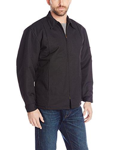 Red Kap Men's Perma-Lined Panel Jacket, Black, Long X-Large