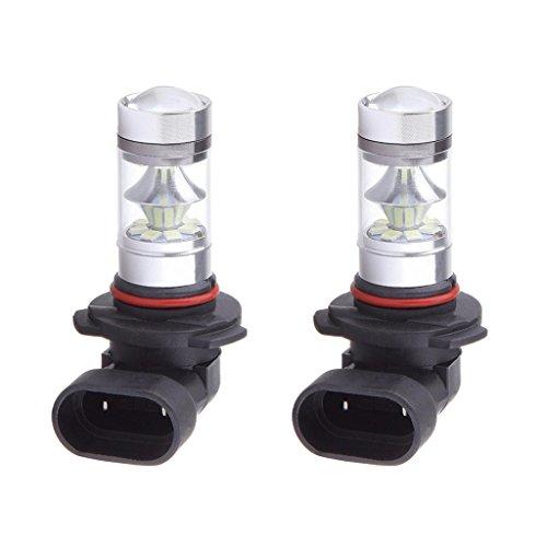 B Blesiya 2 Piezas 9006 HB4 2323 20SMD LED 100W Coche Niebla Conducción DRL Luces 6000K Blanco