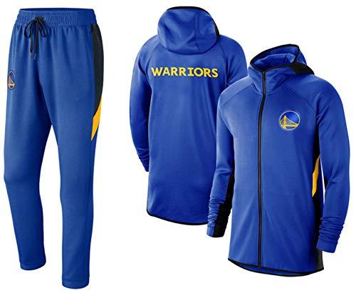 Lakers Warriors 76er Nets Unisex Trainingsanzüge Set Basketball Sweatshirts Hoodies Jogging Bottoms Sportanzug Casual Gym Sport Mit Kapuze Pullover und Hose blue2-2XL(190~195)