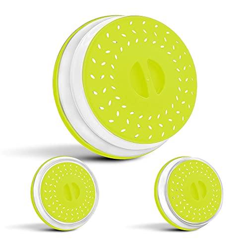 Colonel cook-Campana de cocina para microondas-sin BPA-GARANTÍA DE POR VIDA-envase para micro-ondas 3 en 1-Campana para microondas retráctil, anti-vapor con función colador-Compatible lavavajillas