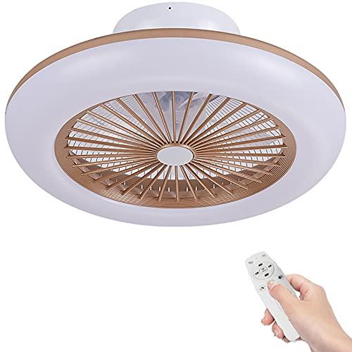 Ventilatore A Soffitto Da 80W Con Illuminazione A Soffitto Ventilatore Dimmerabile Con Telecomando 3 Temperature Di Colore Ultra Morbida Lampada A Soffitto A LED Ultra Per Soggiorno