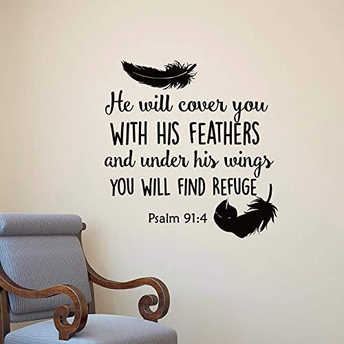 Cover Your Feather Biblia Etiqueta de la pared-Arte de vinilo de pared