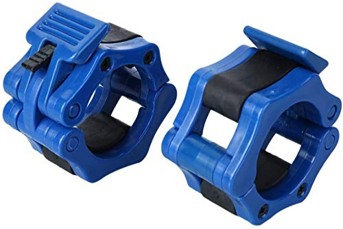 Fairey 2 Inch Olympic Barbell Clamps Collar, Quick Release Locking 50MM Weight Bar Crossfit Exercise Collar Clamps for Workout Fitness Training Bodybuilding 2 Pieces Blue