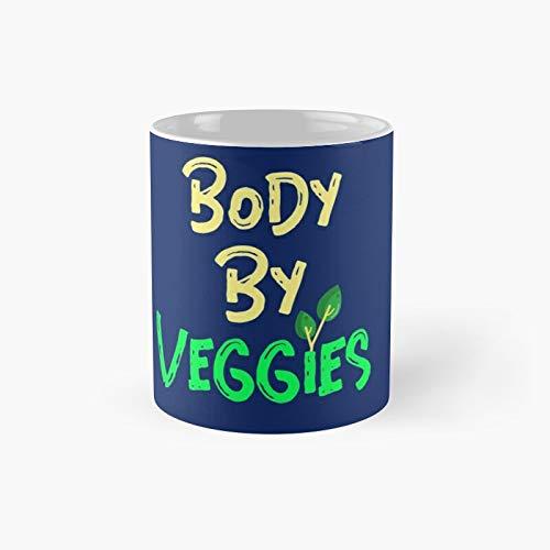 Body by Veggies Classic Mug | Best Gift Funny Coffee Mugs 11 Oz