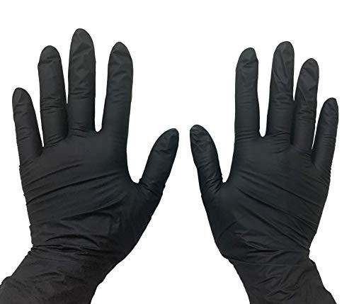 Guantes Latex Negros  marca AMBIDERM