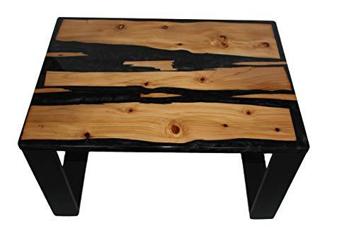 Tavolino da Salotto in Legno e Resina