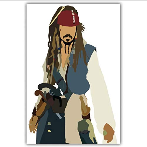 Zahuishile Pirates of The Caribbean TV Movie Poster Wall Art Wall Decor Silk Prints Art Poster Paintings for Living Room 40x60cm Without Frame