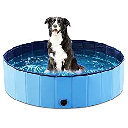 Jasonwell Foldable Dog Pet Bath Pool Collapsible Dog Pet Pool Bathing Tub...