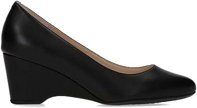 black wedge pumps heels