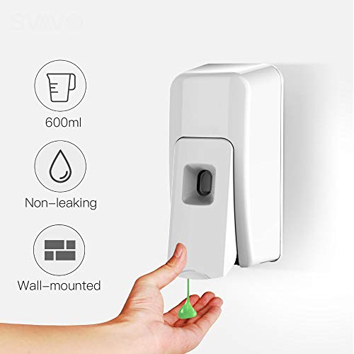 600ml ABS Manual vloeibare zeep/Spray/Foam Soap Dispenser muur gemonteerd Hand Soap Dispenser voor keuken Hotel Bathroom