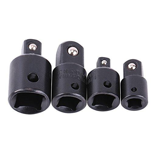 Juego de convertidor de destornillador de 4 piezas, adaptadores de llave de vaso de 1/2', 3/8', 1/4'para llave de conversión de destornillador de impacto