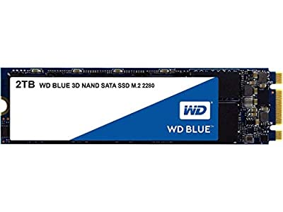 WD Blue 3D NAND 2TB Internal PC SSD - SATA III 6 Gb/s, M.2 2280, Up to 560 MB/s - WDS200T2B0B