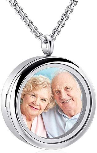 ketting voor Ashes Keepsake Hanger Chain Mini crematie sieraden glazen fotolijst om de as van een geliefde souvenir van eeuwigheid hanger urn souvenir voor vrouwen mannen ketting te houden, Kleurnaam
