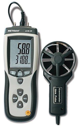 Metravi AVM-09 Digital Thermo-Anemometer with CFM/CMM, inbuilt Pressure Meter & USB PC Interface