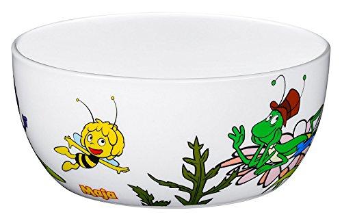 WMF La abeja Maya - Cuenco para niños para cereales de porcelana, Ø13,8cm, altura 6,0 cm (WMF Kids infantil)