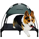 HPYMore Elevated Pet Bed with Canopy, Cooling Pet Cot, Outdoor and Indoor Dog Bed with Tent, Portable Dog Cot for Camping or Traveling(30Inch)