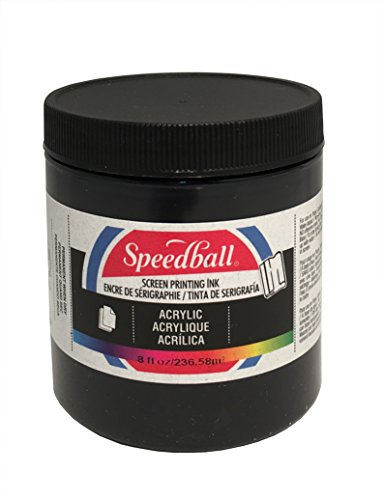 Speedball Acrylic Screen Printing Ink, 8-Ounce, Black