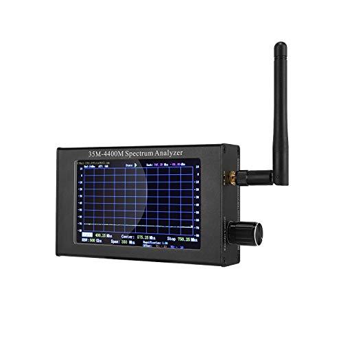 Spectrum Analyzer,SEESII LTDZ 35Mhz-4400Mhz Frequency Analyzer USB 4.3 inch Portable Handheld Digital Signal Frequency Analysis Handheld Frequency Analyzing for Ham Radio,Wireless 2.4Gwifi